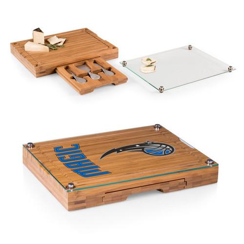 Picnic Time Concerto Bamboo Orlando Magic Cutting Board/Tray and Cheese Tools Set