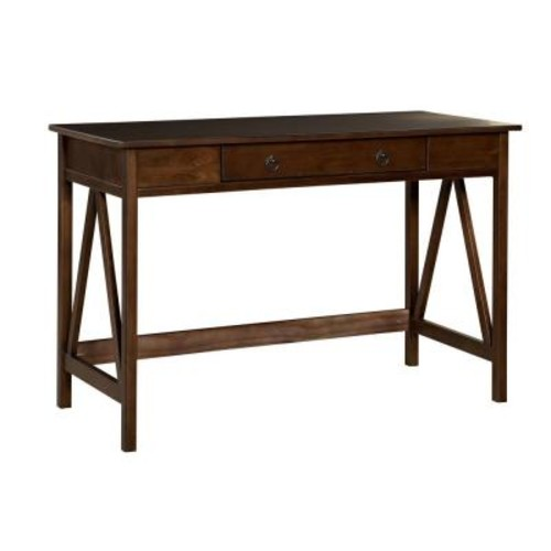 Linon Home Decor Titian Antique Tobacco Desk