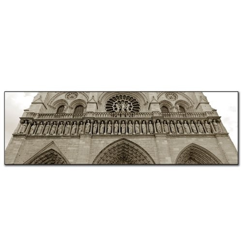 Notre Dame by Preston, 10x32-Inch Canvas Wall Art