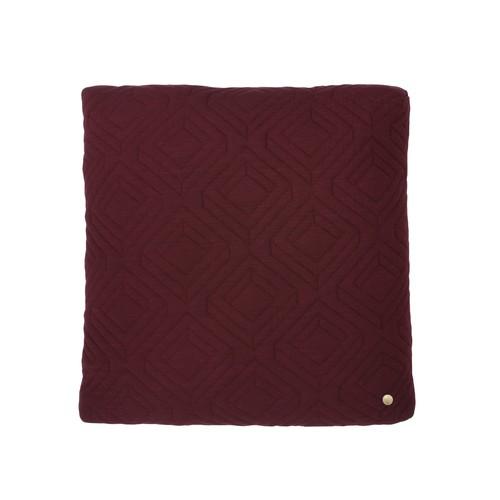 18 x 18 Quilt Cushion in Bordeaux design by Ferm Living