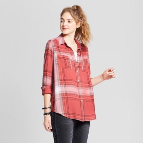 Women's Long Sleeve Boyfriend Button Down Shirt - Mossimo Supply Co.