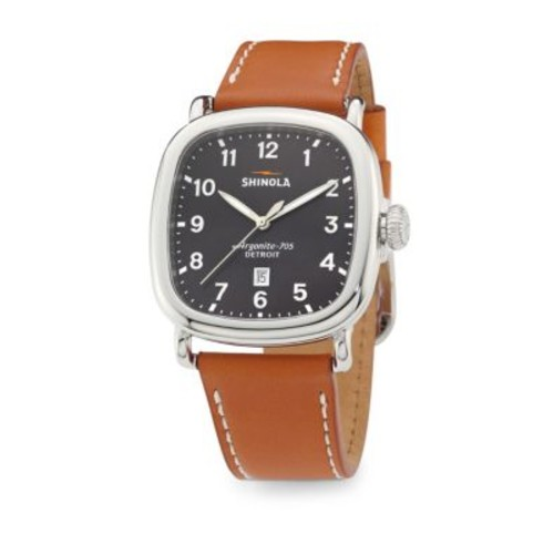 The Guardian Leather Strap Watch