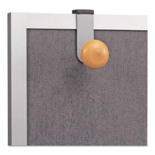 Alba Cubicle Garment Peg 1 Hook 1 1/5 x 1 3/8 x 4 3/10 Metallic Grey