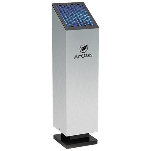 Air Oasis - Tower Air Purifier - Black, Silver