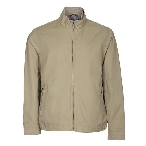 Tasso Elba Mens Windbreaker Jacket Large L Zippered Washed Khaki