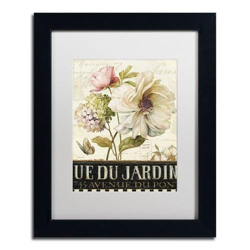 Trademark Fine Art Marche de Fleurs II Black Framed Wall Art