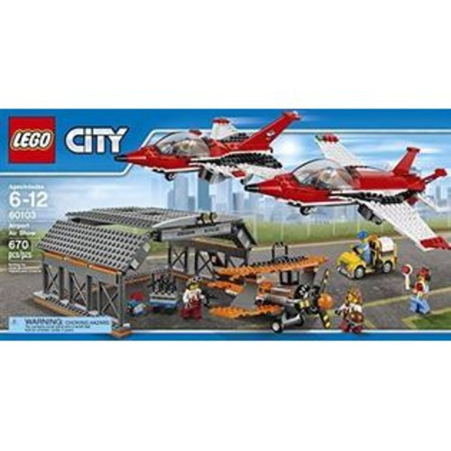 LEGO City Airport 60103 BUILDING KIT, Kids Toy Airport Air Show LEGO SET
