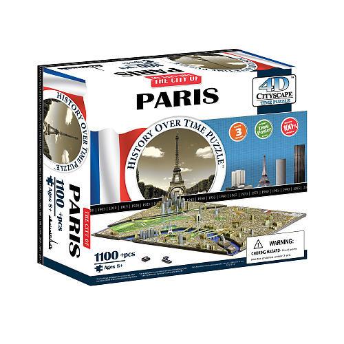 4D Cityscape Time Puzzle - Paris, France