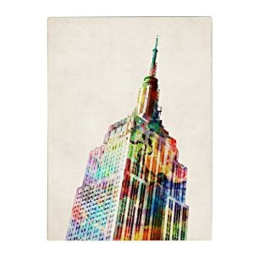 Empire State by Michael Tompsett, 14 by 19-Inch Canvas Wall Art [14 by 19-Inch]