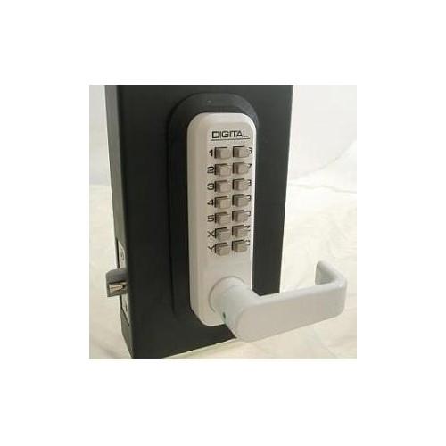 2835WH Mechanical, Keyless Lever Lock [White, Single Combination]