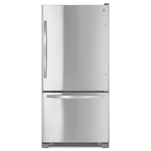 Kenmore 79343 22 cu. ft. Bottom-Freezer Single Door Refrigerator- Stainless Steel
