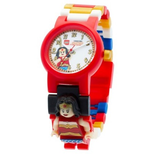 LEGO DC Super Heroes Wonder Woman Kids Interchangeable Link Watch - Red