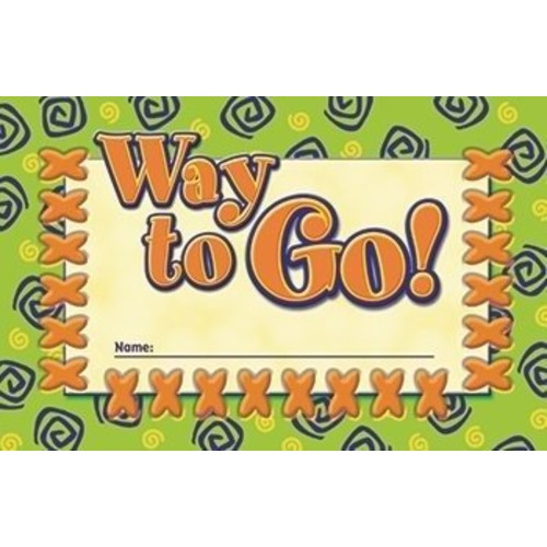 North Star Teacher Resource Way to Go Incentive Punch Cards [1]