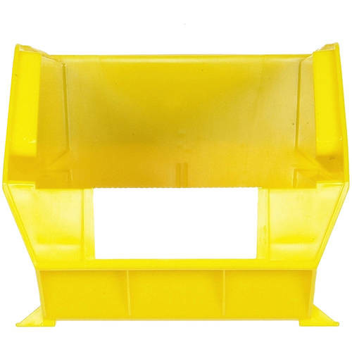 Triton Products LocBin 14-3/4 in. L x 8-1/4 in. W x 7 in. H Yellow Stacking, Hanging, Interlocking Polypropylene Bins, 6 CT