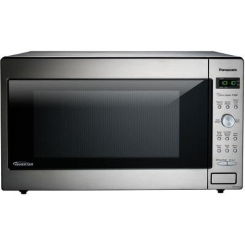 Panasonic 2.2 cu. ft. Countertop Microwave in Stainless Steel Built in Capable with Sensor Cooking and Inverter Technology