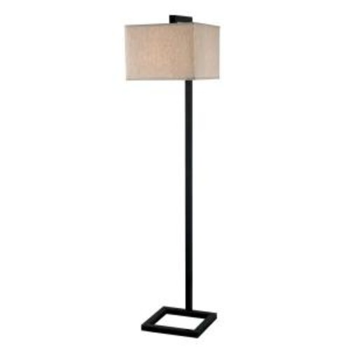 Kenroy Home 4 Square 1-Light 64 in Oil-Rubbed Bronze Floor Lamp