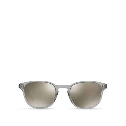 OLIVER PEOPLES Fairmont Round Mirrored Sunglasses, 49Mm