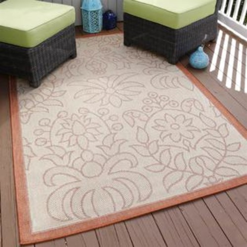 Lavish Home Botanical Indoor and Outdoor Rug