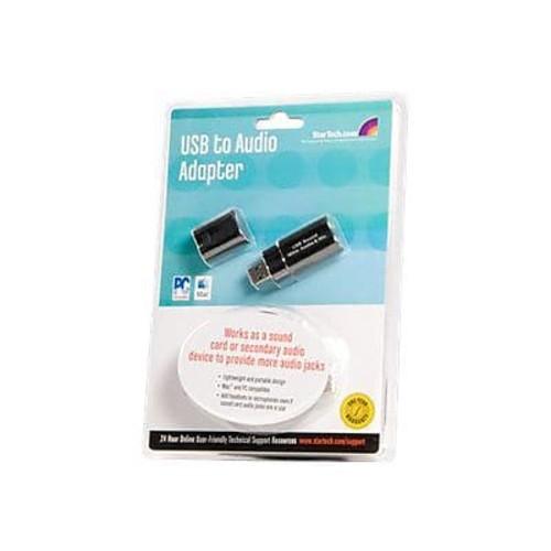 StarTech USB Stereo Audio Adapter External Sound Card