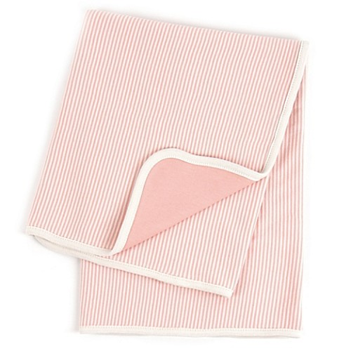 Tadpoles by Sleeping Partners Pinstripe Organic Cotton Receiving Blanket in Coral