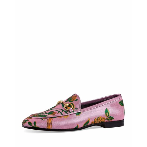GUCCI Jordan Floral Jacquard Loafer, Pink
