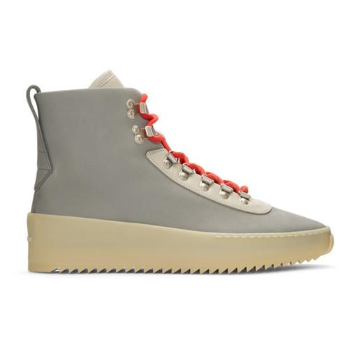Grey & Beige Hiking Boots