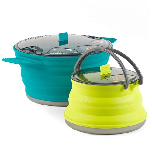 Sea to Summit X-SET 33- X-Pot 2.8L - X-Kettle 1.3L 586-32, Application: Cooking, Packed Size: 8.4 in (diameter) x 1 in (depth), w/ Free S&H