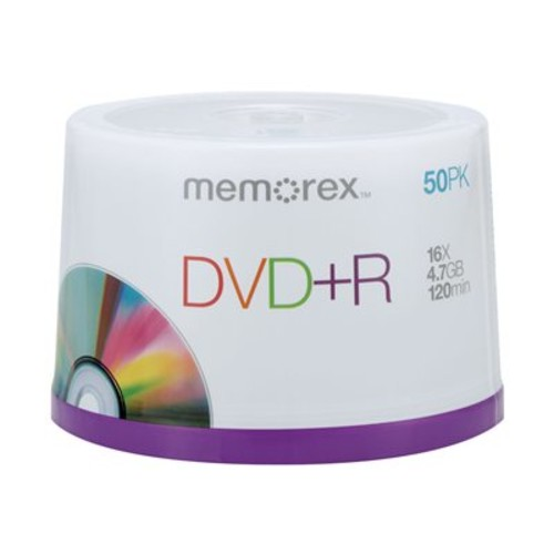 Memorex DVD+R 16x 4.7GB 50 Pack Spindle [50 Pack DVD+R Spindle]