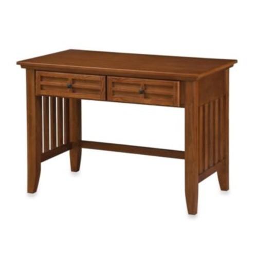 Home Styles Arts & Crafts Student Desk in Cottage Oak