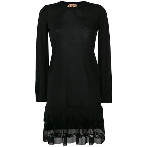 mesh insert shift dress