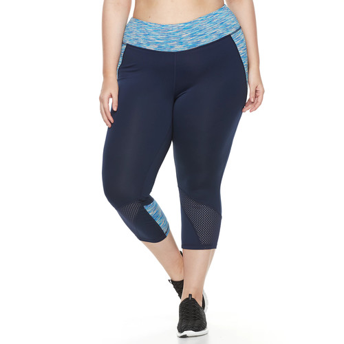 Champion Women's Plus Mesh Capris
