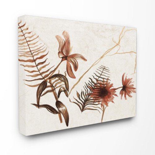 Botanicals in Ink Canvas Wall Art