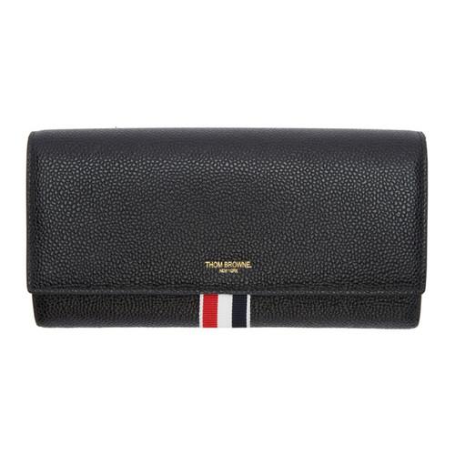 THOM BROWNE Black Long Clasp Wallet