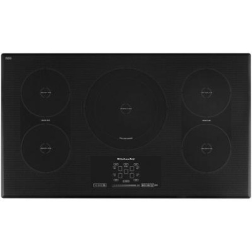 KitchenAid Architect Series II 36 in. Smooth Surface Induction Cooktop in Black with 5 Elements including Bridge and Dual Elements