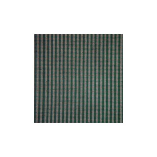 Green Hunter and Tan Checks Curtain Panels