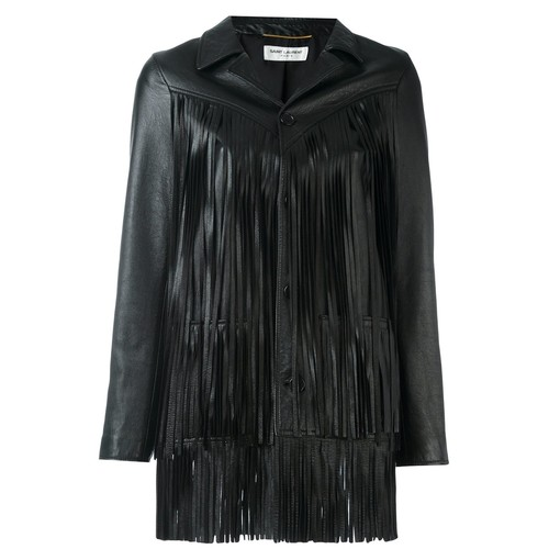 SAINT LAURENT Texan Fringe Jacket