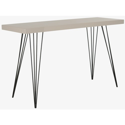 Wolcott Lacquer Console in Taupe & Black design by Safavieh