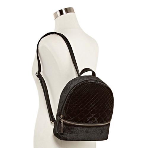 ique Diamond Velvet Backpack