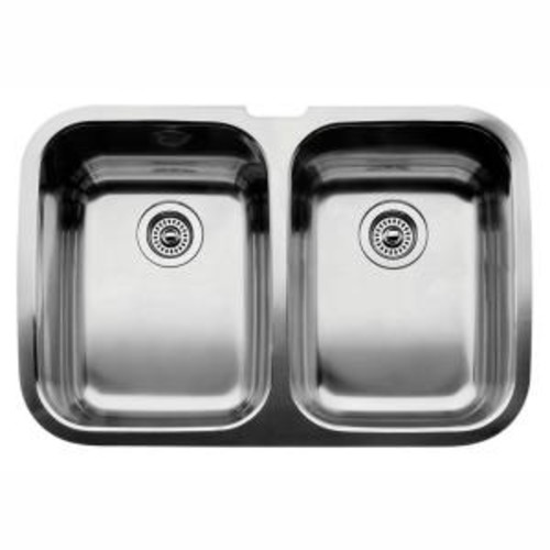 Blanco Supreme Undermount Stainless Steel 32 in. Equal Double Bowl Kitchen Sink