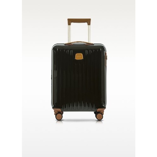 Capri Olive Polycarbonate Hard Case Cabin Trolley