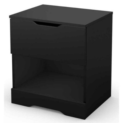 South Shore Furniture Night Stand in Black