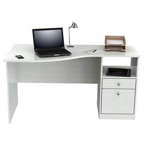 Inval America Laura Curved Computer Wood Desk