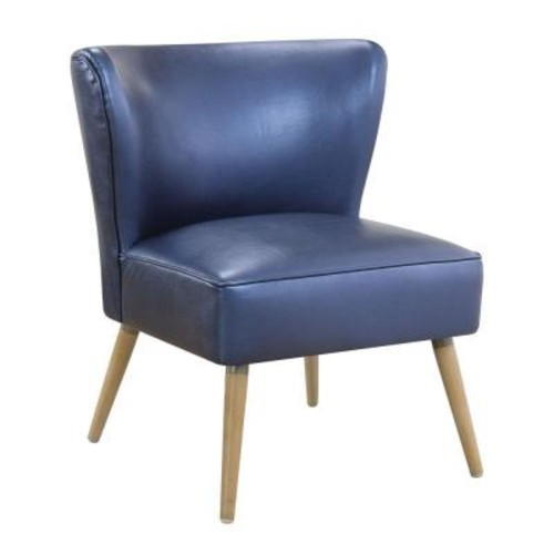 Ave Six Amity Sizzle Azure Fabric Side Chair