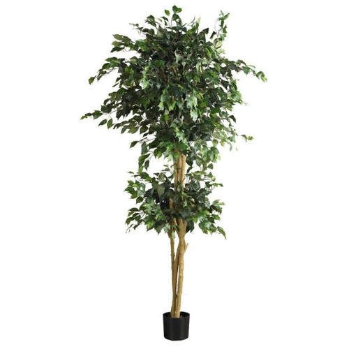 Nearly Natural 6 ft. Double Ball Ficus Silk Tree