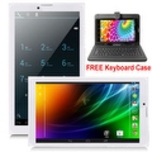 Indigi 7inch Factory Unlocked 3G SmartPhone 2-in-1 Phablet Android 4.4 KitKat Tablet PC w/ WiFi + Keycase Included