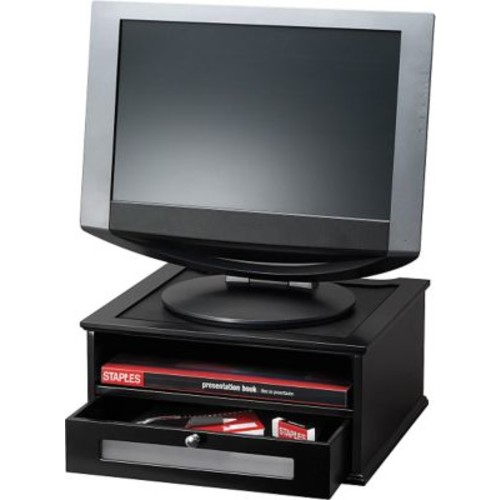 Victor Wood Desk Accessories Monitor Riser, Midnight Black