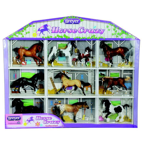 Breyer Stablemates Horse Crazy Collection Shadow Box