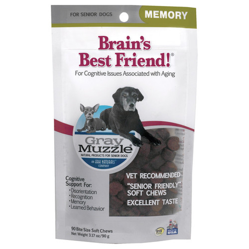 Ark Naturals Gray Muzzle Brains Best Friends Treats for Senior Dogs (2 Pack)