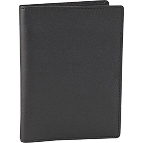 Men's Royce Leather Passport and Currency Wallet [Black, One Size]