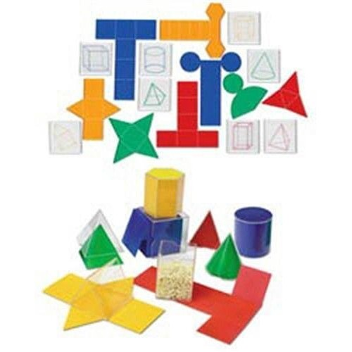Folding Geometric Shapes 32/Set Combo Set By Learning Resources